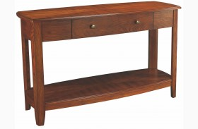 Primo Warm Medium Brown Sofa Table