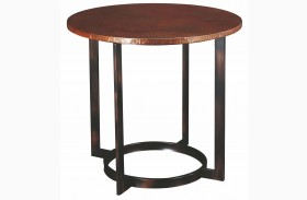 Nueva Aged Copper Round End Table