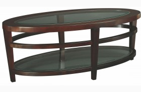 Urbana Dark Merlot Oval Cocktail Table