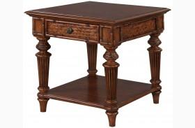 Antilles Warm Cognac Rectangular End Table