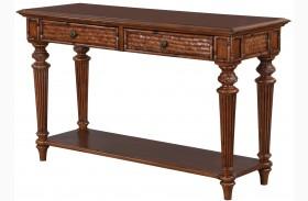 Antilles Warm Cognac Rectangular Sofa Table