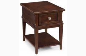 Madera Merlot Wood Rectangular End Table