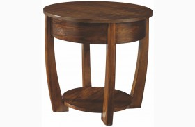 Concierge Medium Brown Round End Table