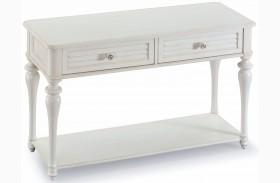 Curran Weathered White Wood Rectangular Sofa Table