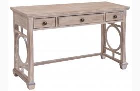 Lana White Wash Wood Rectangular Sofa Table