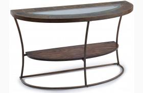 Desoto Warm Sienna Wood Demilune Sofa Table