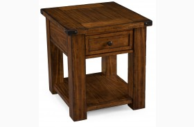 Parker Lane Distressed Natural Pine Rectangular End Table