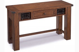 Parker Lane Distressed Natural Pine Rectangular Sofa Table
