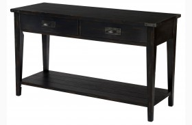 Sheffield Antique Black Rectangular Sofa Table