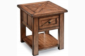 Harper Farm Warm Pine Rectangular End Table