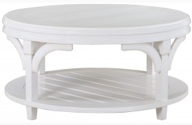Boathouse White Round Cocktail Table