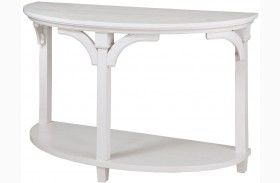 Boathouse White Demilune Sofa Table