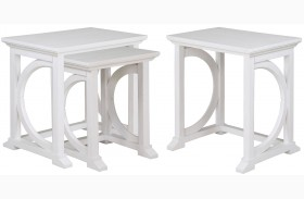 Boathouse White Nesting End Table
