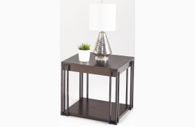Citation and Metal Square Lamp Table