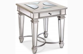 Novella Chalk Metal Rectangular End Table