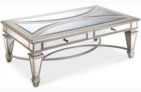 Novella Chalk Metal Rectangular Cocktail Table
