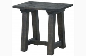 Bridgewater Weathered Charcoal Rectangular End Table
