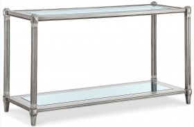 Platinum Metallic Silver Rectangular Sofa Table