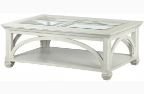 Hancock Park Vintage White Rectangular Cocktail Table