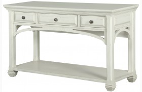 Hancock Park Vintage White Rectangular Sofa Table