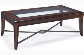 Acclaim Chestnut Wood Rectangular Cocktail Table