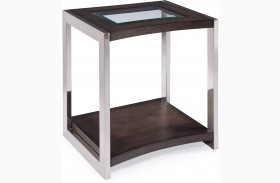 Lynx Graphite Wood Rectangular End Table