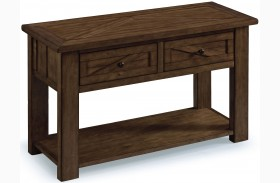 Fraser Rustic Pine Wood Rectangular Sofa Table