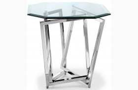 Lenox Square Nickel Octagonal End Table