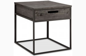 Claremont Weathered Charcoal Rectangular End Table