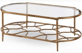 Bancroft Gold Leaf Rectangular Cocktail Table