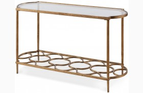 Bancroft Gold Leaf Rectangular Sofa Table