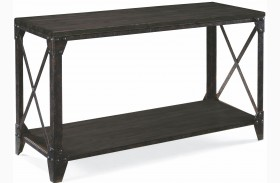 Milford Weathered Charcoal And Gunmetal Rectangular Sofa Table