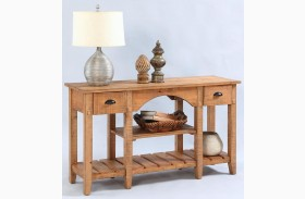 Willow Distressed Pine Console Table