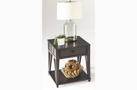 Consort Midnight Rectangular End Table