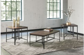 Newelk Brown 3 Piece Occasional Table Set