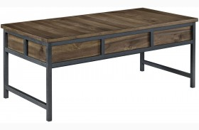Monilee Medium Brown Rectangular Cocktail Table