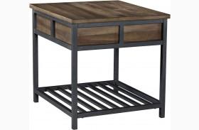 Monilee Medium Brown Square End Table
