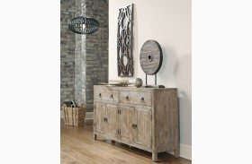 Rustic Accents Burnished Natural Accent Cabinet