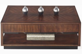 Sophisticate Prima Vera Rectangular Cocktail Table