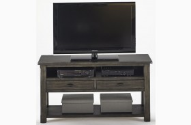 Crossroads Smokey Grey Entertainment Console