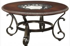 Gambrey Reddish Brown Round Cocktail Table