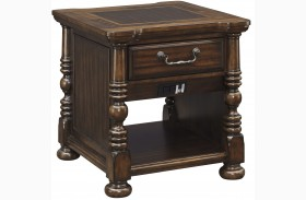 Brosana Brown Rectangular End Table