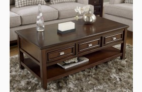 Larimer Rectangular Drawer Cocktail Table