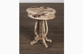 Jaipur Round Acacia End Table