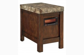 Kraleene Chair Side End Table With Heater