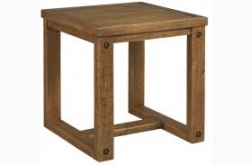 Tamilo Grayish Brown Square End Table