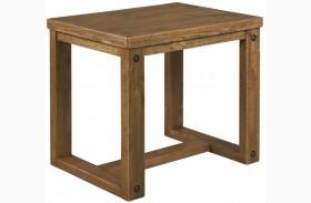 Tamilo Grayish Brown Chair Side End Table