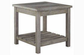 Veldar Whitewash Square End Table