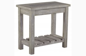 Veldar Whitewash Chair Side End Table