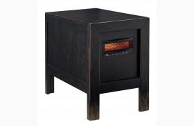 Gavelston Chair Side End Table with Heater